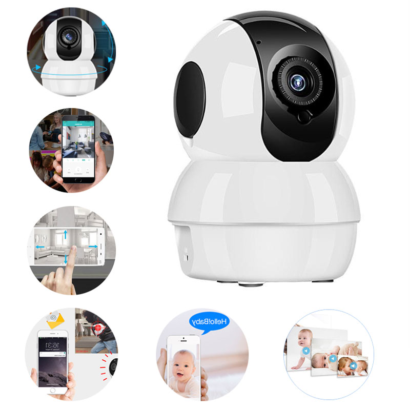 Home Office Factory Indoor Surveillance Wifi Camera 720P/1080P Anti-theft Alarm Phone App Online 24h Monitoring