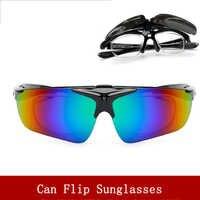 Radfahren Gläser Outdoor Sport Flip sonnenbrille UV 400 Männer und Frauen Mountainbike Fahrrad Brille Angeln Gläser