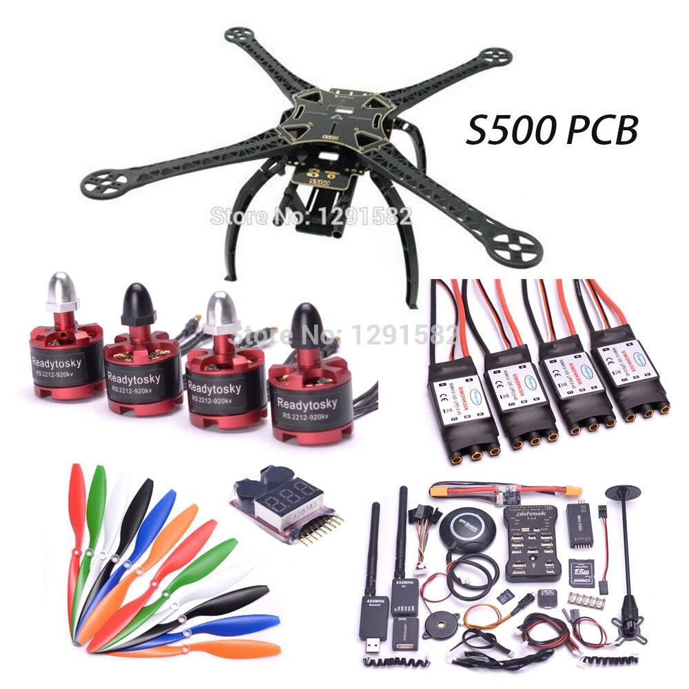 F450/S500 PCB X500 500mm Quadcotper Rahmen Kit Pixhawk 2.4.8 32 Bit Flight Controller mit 433 telemetrie Mini OSD/PPM/4 GB-in Teile & Zubehör aus Spielzeug und Hobbys bei  Gruppe 1