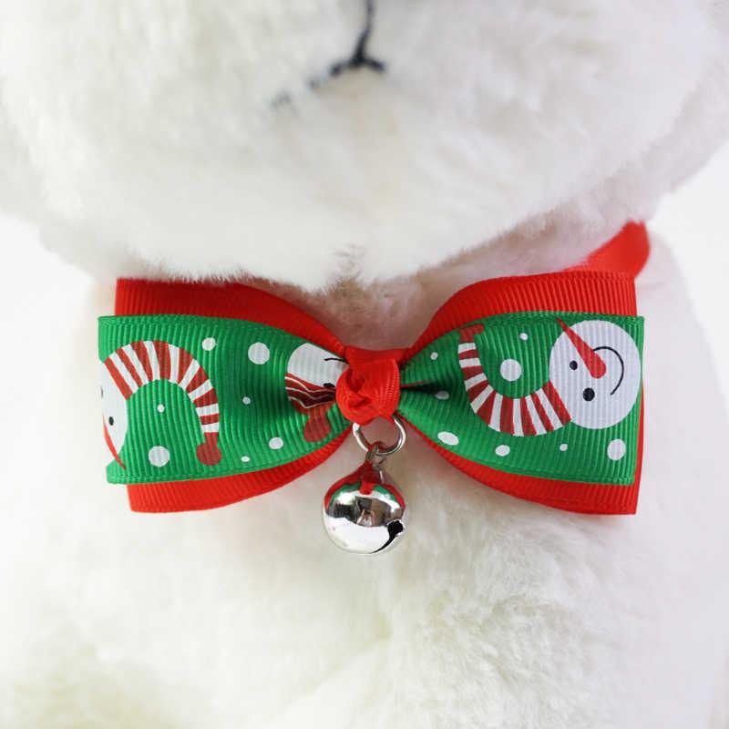 1 Pieces Lucu Natal Persediaan Hewan Peliharaan Handmade Ribbon Dog Dasi kupu-kupu 8 Warna Cat Neck Tie Aksesoris Anjing