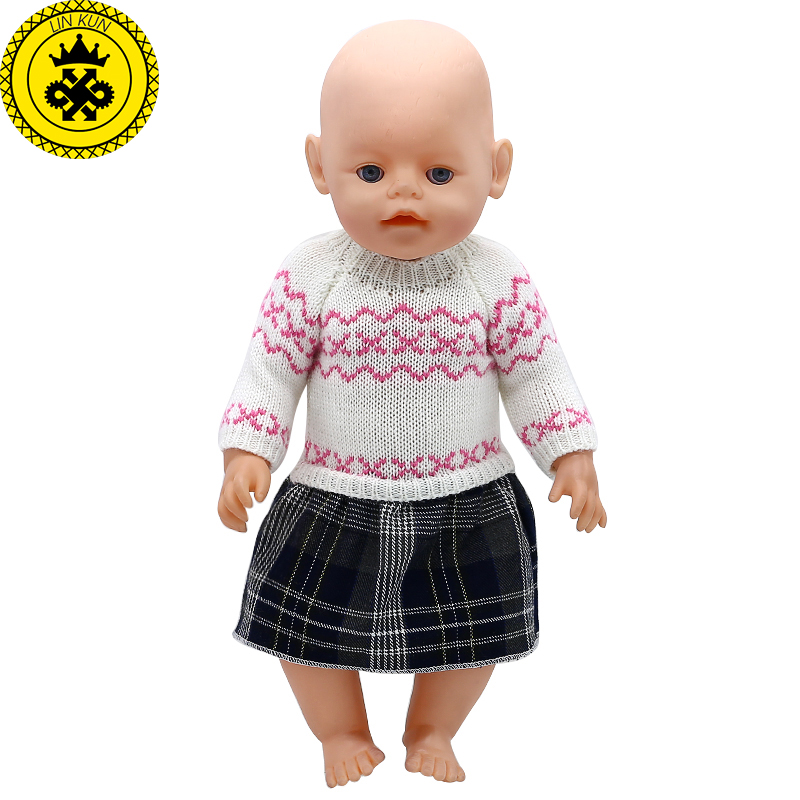 Baby Born Doll Clothes 6 Styles Woolen Hand-woven Princess dress Fit 43cm Zapf Baby Born Doll Accessories Birthday Gifts 362  baby born doll clothes pink retro princess dress fit 43cm baby born zapf or 17inch doll accessories high quality love 182
