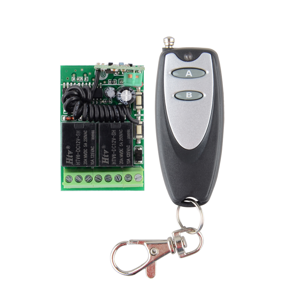 DC Mini Receiver Transmitter DC 12V 2CH 10A Wireless Remote Control Light Switch System 315mhz/433mhz access door control system 12v 1ch wireless remote control switch system transmitter receiver mini size 315 433mhz