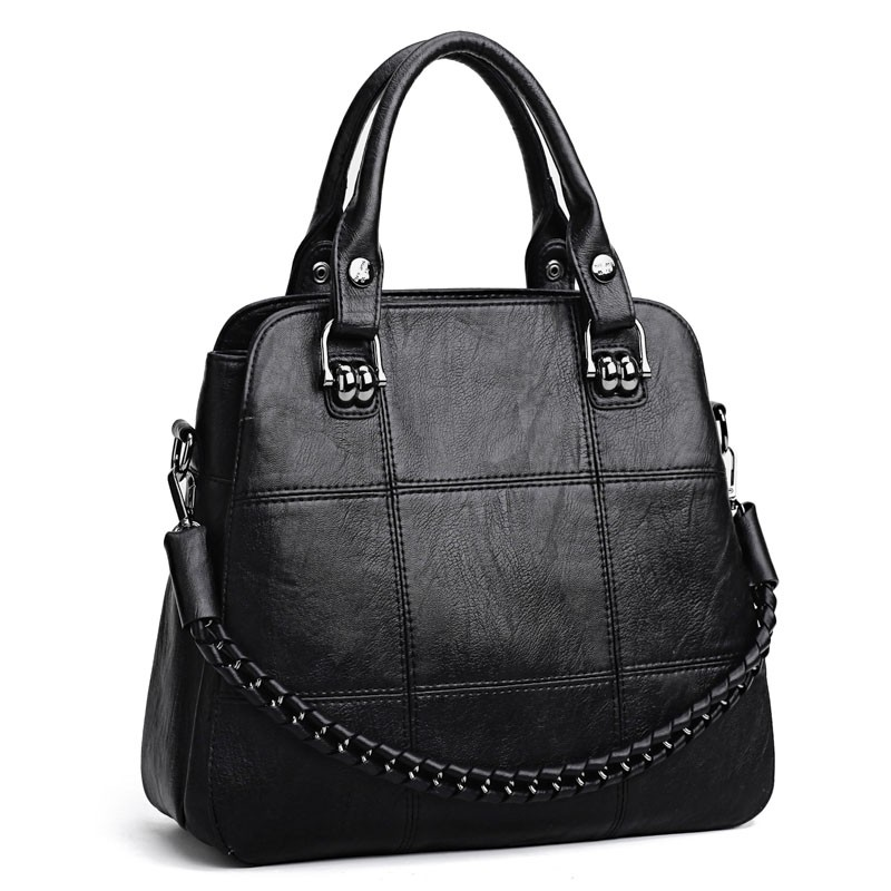Fashion Women Leather Handbag Shoulder Bag Tote Purse Large Capacity Shoulder Crossbody Bags for Women 2018 Ladies Hand Bags yasicaidi fashion women leather handbags large capacity tote bag black oil leather shoulder bag crossbody bags for women handbag