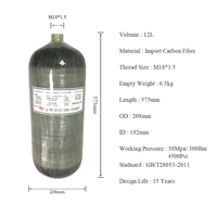 AC3120 pcp paintball air tank mini scuba tank 30mpa composite cylinder diving tanks cylinders for diving compressor ACECARE