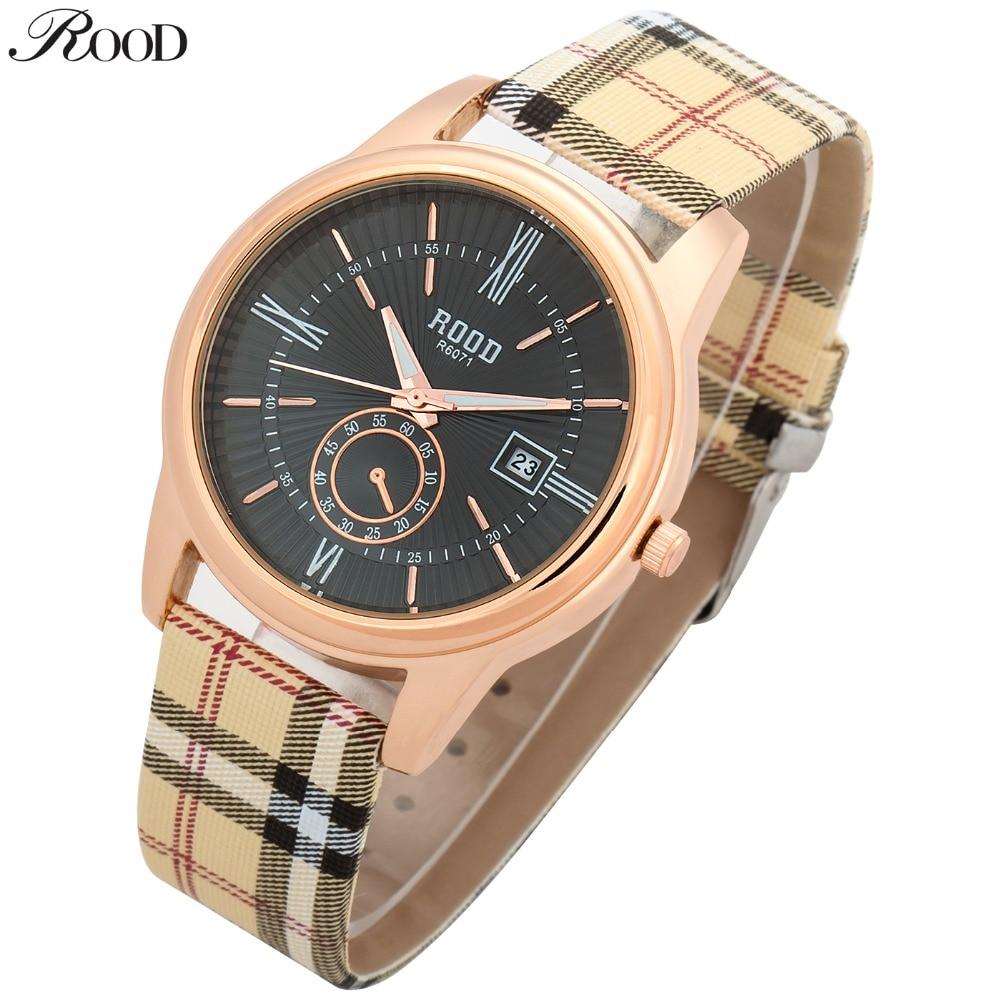 NEW women dress watches quartz Clock leather wrist wa