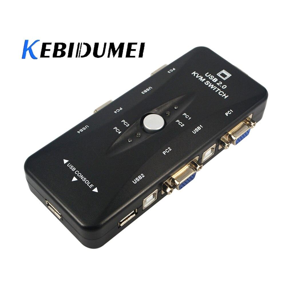 Computer-peripheriegeräte Kebidumei Neue Kvm-switch 4-port 3 Hub Mini-auto Usb Kvm-switch Usb 2.0 1620x1440 Maximale Auflösung Für Windows Schrecklicher Wert
