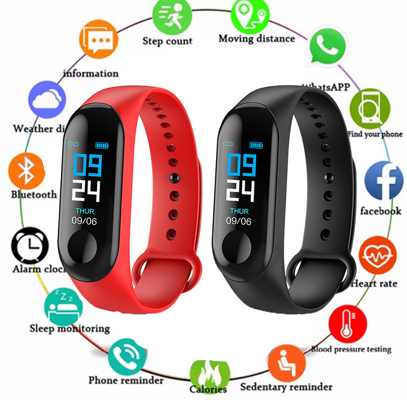 2019 New Fitness Bracelet Blood Pressure Outdoor Sports Pedometer Heart Rate Monitor Smart M3 Waterproof Wristbands PK Mi Band 32019 New Fitness Bracelet Blood Pressure Outdoor Sports Pedometer Heart Rate Monitor Smart M3 Waterproof Wristbands PK Mi Band 3