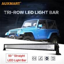 """Auxmart 50 """"Triple-wiersz Led Bar Combo Beam Offroad Praca Lekka 12 V 24 v SUV ATV 4×4 przyczepa ciężarówki 4WD Samochód Stylizacji"""