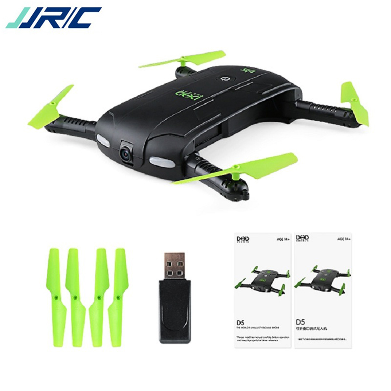 Drone with Camera JJRC DHD D5 RC Mini Drone Foldable RC pocket drone RC Helicopter Mini Quadcopter Phone Control Headless Mode dhd d5 selfie drone with wifi fpv hd camera foldable pocket rc drones phone control helicopter vs jjrc h37 mini quadcopter toys
