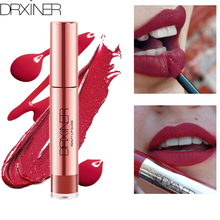 Drxiner lip gloss matte liquid lipstick lip tint red velvet lipgloss 10 colors  Long Lasting Waterproof Cosmetic Beauty Makeup цена