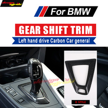 For BMW M Series X5M X6M High-quality Left hand drive Carbon car General Gear Shift Knob surround cover trim D-Style Car-styling стоимость