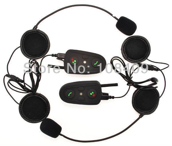 El mejor precio! + Mejor 2*800 M BT Interphone/Teléfono Celular Habilitado A2DP Bluetooth Casco de La Motocicleta Intercom/MP3/GPS FM