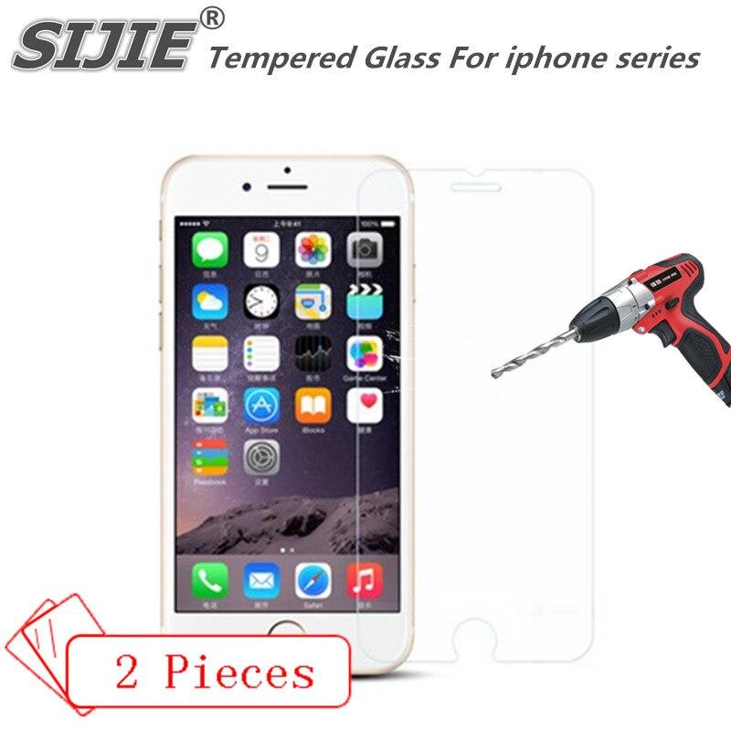Vidro Temperado Para o iphone 4 4S 5 5S SIJIE 6 6 S 7 mais 6 mais 7 mais cobertura i5S Tela i6S proteger capa protetora 4.7 5.5 polegadas