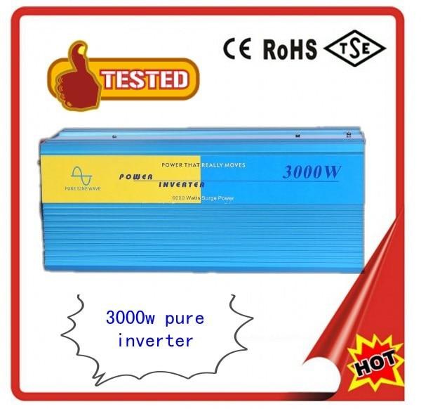 Car Power inverter 3000w 3000Watt Pure Sine Wave DC 12V TO AC 220V Converter For Solar/wind/gas Power Generation