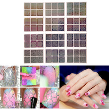 Nail Art Sticker Hollow Out Stencil DIY Shinning Fingernail Polish Gel Nails 3D Laser Image Manicure Nail Stickers Template