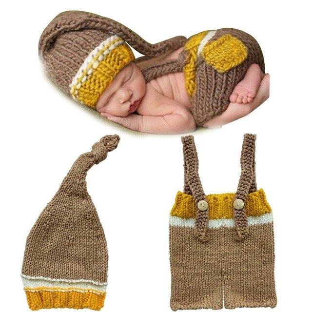 Bebé recién nacido Niñas Niños crochet knit traje foto fotografía ...