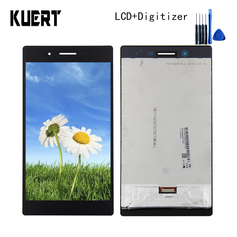 Panel LCD Combo Touch Screen Digitizer Glass LCD Display Assembly  For Lenovo Tab 3 Tab3 TB3-730X Accessories Parts Free Tools original gigabyte gsmart simba sx1 touch screen panel sensor glass digitizer lcd display matrix assembly free ship