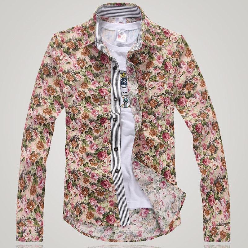Floral print mens shirt is shirt for Patterned dress shirts for men