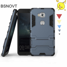 For Huawei Honor 5X Case Rubber + Plastic Kickstand Phone Holder Anti-knock Cover 5.5 inch