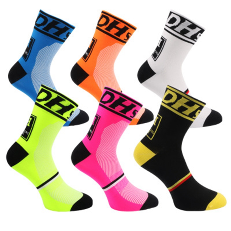 DH Sports New Big Size Men Women Cycling Socks Top Quality Professional Brand Sport Breathable Outdoor Racing Bicycle Sock