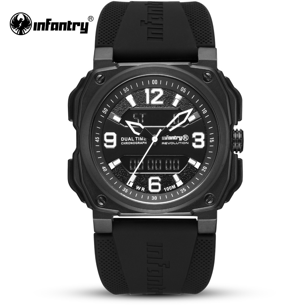 цена на INFANTRY Military Watch Men Digital Quartz Mens Watches Top Brand Luxury 2018 Waterproof Army Sport Tactical Relogio Masculino