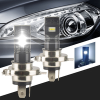 2pcs H4 80W Car Led Chip White Cars Fog Lights Bulb Auto Lamp 12V 6000K Signal