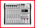 Professional Audio Mixer 8 Channels 7 Stereo Graphic EQ Mixing Console MX8 Mezcladora De DJ