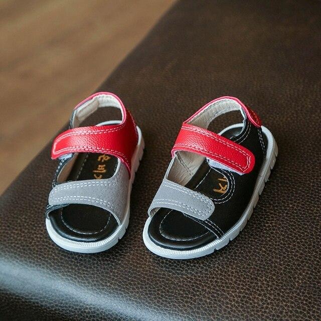 2017 Летний новый детская Обувь подбора цвета моды детские сандалии нескользящей удобные мягкое дно Детские сандалии