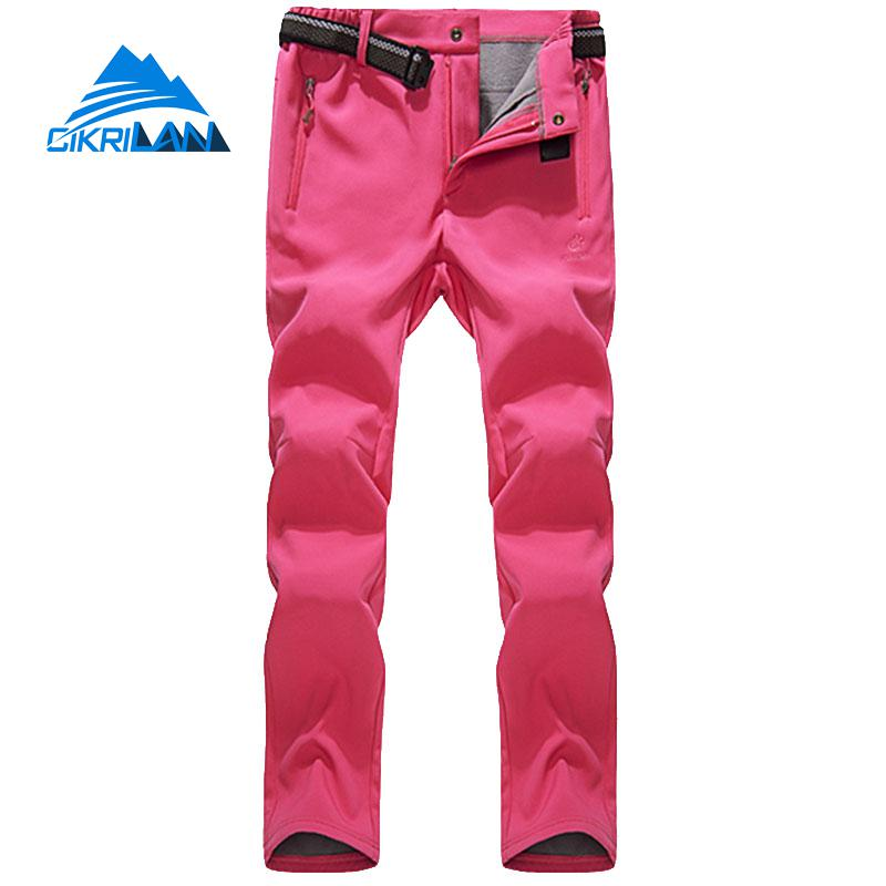 Womens Softshell Outdoor Sport Camping Hiking Pants Women Water Resistant Trekking Climbing Trousers Windproof Pantalones Mujer