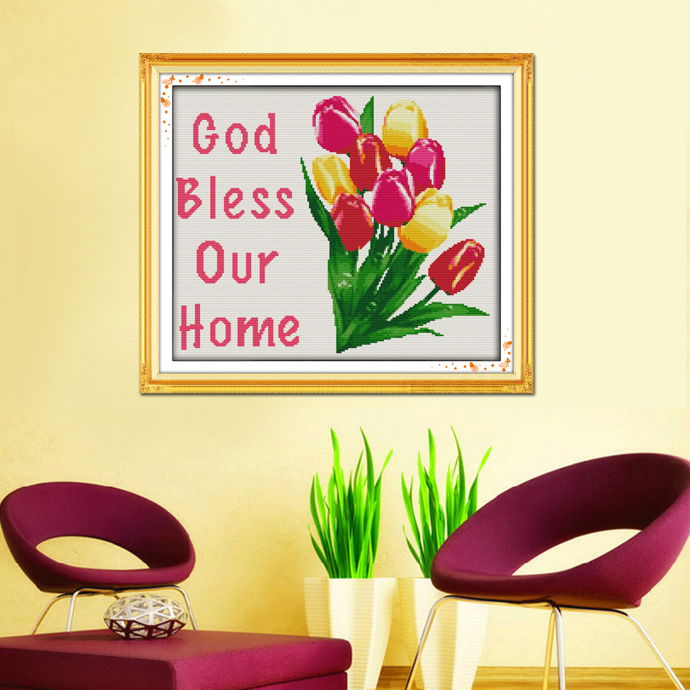 Joy Sunday YN447 14CT 11CT Counted and Stamped Home Decoration God ...