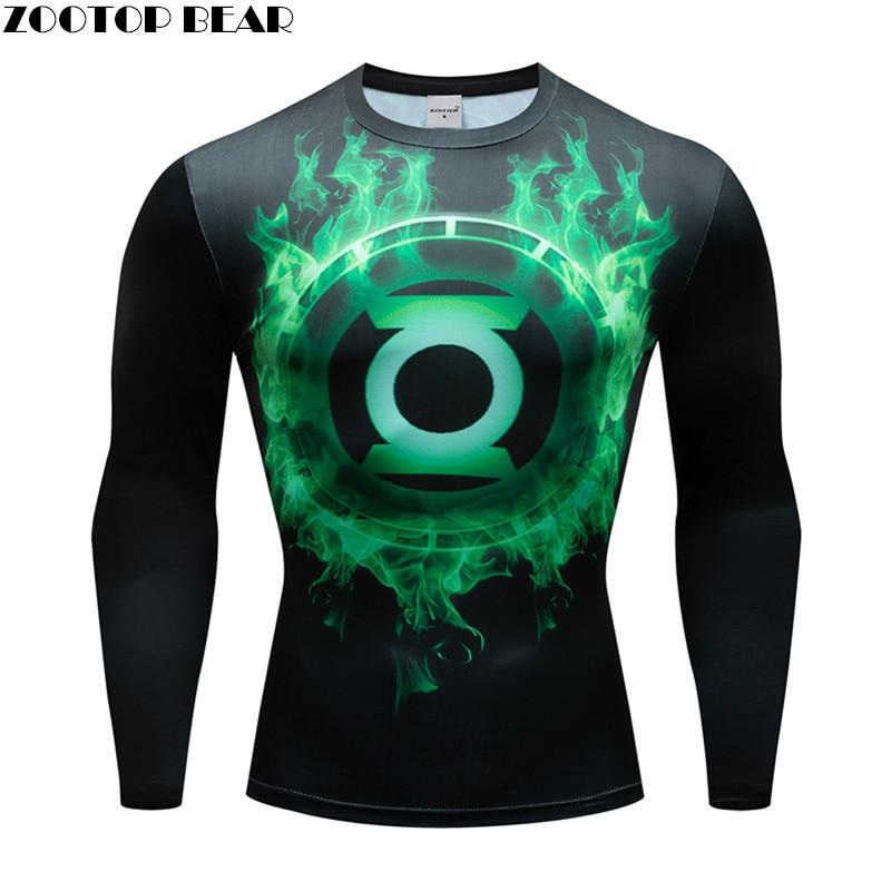 Superhero Ironman T shirts Men Compression T-shirts Fitness Man Long T-shirts Bodybuilding Top Hot Sale Crossfit Cosplay S-XXXL