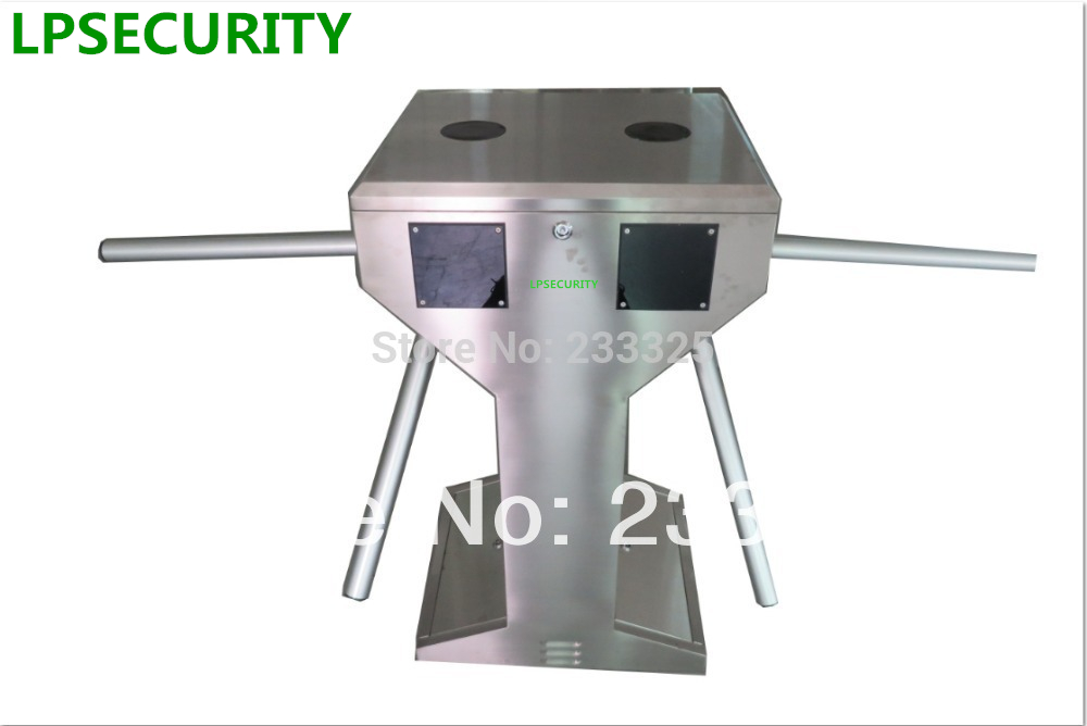 LPSECURITY Access control system Stainless Steel Double half height Turnstile system Entrance Gate electrical turnstile gate system mechanism access control gate mechanism