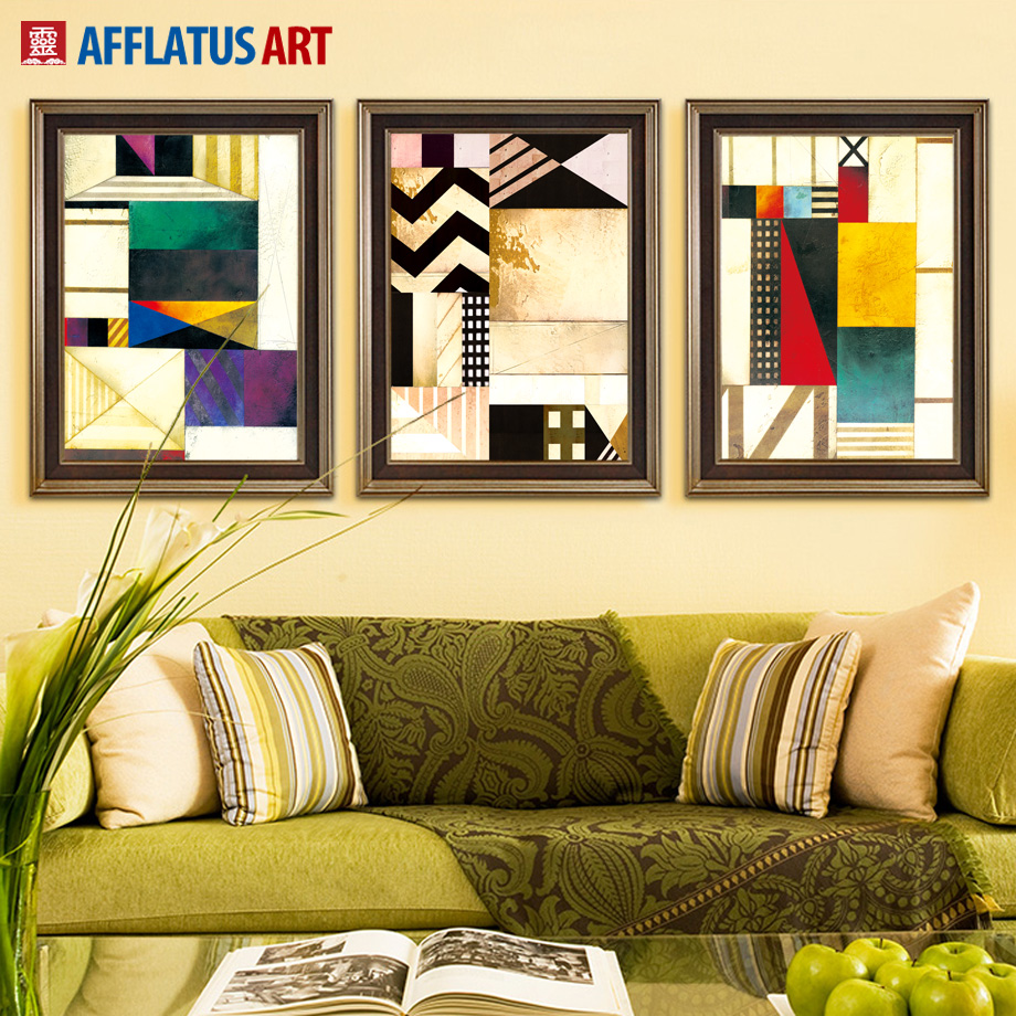 AFFLATUS Canvas Painting Nordic Abstract Decoration Painting Wall Art Canvas Poster Wall Pictures For Living Room