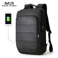 Mark Ryden 2018 Summer New Arrival Men Water Resistant Backpack USB Recharging Backpack Fit For 15