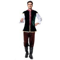 Men's Bavarian Beer Costumes Tavern Renaissance Medieval Costume Oktoberfest Beer Festival Costume carnival Cosplay Costume JT