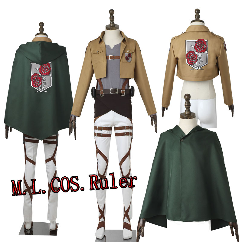 Custom Made Cosplay Clothes Attack on Titan/Shingeki No Kyojin Dot Pixis Stationed Corps Commander Cosplay Costume Halloween