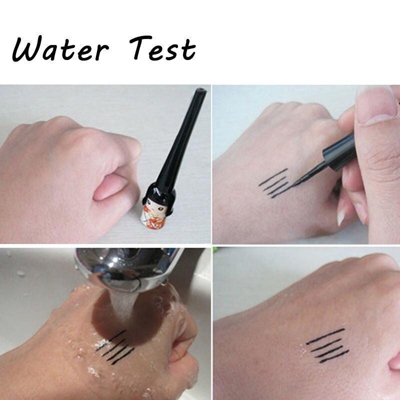 Cute Japanese Doll Black Liquid Waterproof Eyeliner Makeup Eye Liner