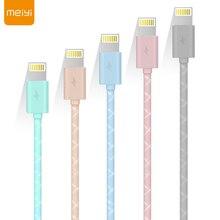 MEIYI M14 1 M câble USB pour iPhone 8 7 6 6 s Plus 5 s se parfait pour Lightning iOS 8 9 10 11 câble de charge chargeur rapide