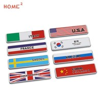 Car Styling Stylish Metal Country Flag Car Label Stickers For Honda Audi Subaru Skoda Samsung Mitsubishi