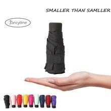 213e75c85 180g Small Fashion Folding Umbrella Rain Women Gift Men Mini Pocket Parasol  Girls Anti-UV Waterproof Portable Travel UMBRELLAS