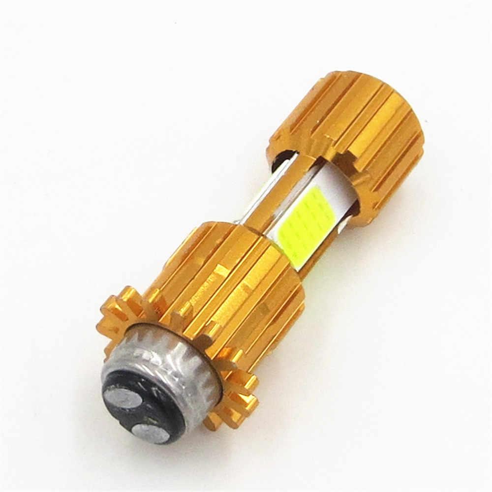 1 pc H6M LED אופנוע פנס הנורה 3X COB LED PX15d P15D25-1 Hi/Lo מנורת קטנוע