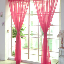 Blackout Kitchen Curtains Solid Wedding Glass Yarn Translucent Curtains Light Filtering Window Screens for Bedroom Kitchen