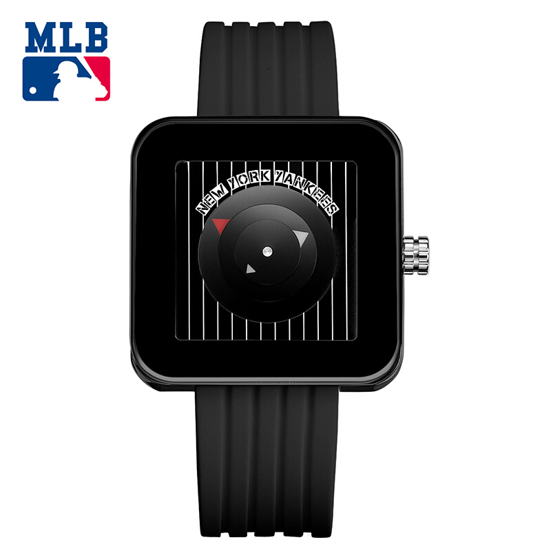 MLB Original NY Baby Series New Lovers Casual Quartz Watch Silicone Sport For Women And Men Waterproof 30m Watches original miler brand soft silicone strap jelly quartz watch wristwatches for women man lovers family black for led kids student