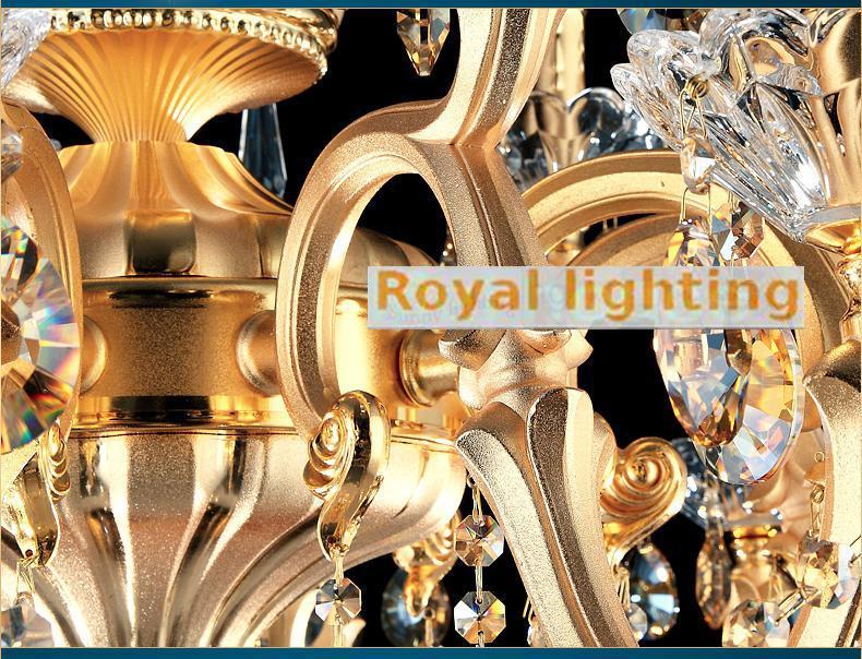 Led Kronleuchter Gold ~ Vintage arm gold aluminium led kronleuchter kristall lampe für