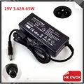 Wholesale 10pcs 19V 3.42A 5.5*2.5mm Laptop AC Adapter Suitable For lenovo/asus/toshiba/benq Notebook Supply Charger Free Ship