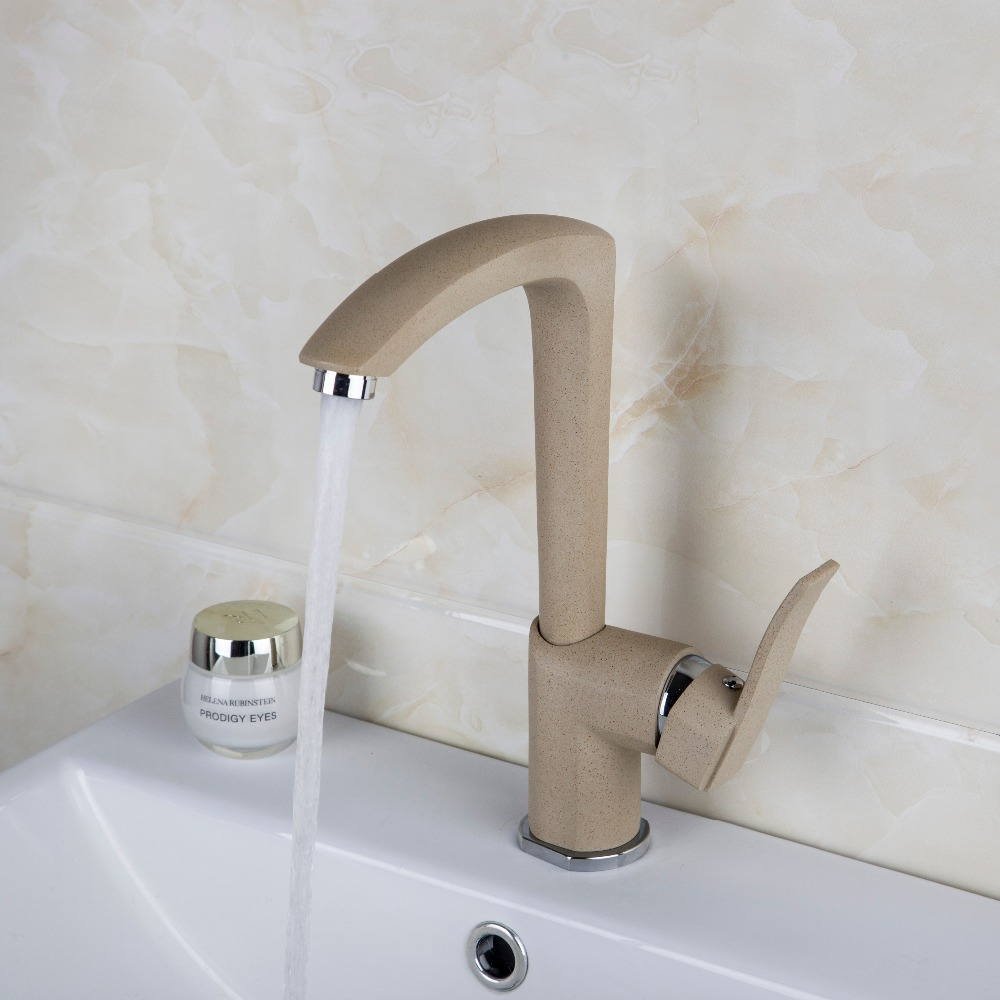 Bathroom Basin Faucet bathroom faucets single handle Hot and Cold Water Tap Deck Mounted Mixer Tap  free shipping basin crane bathroom led stream light water faucet deck mounted cold and hot water mixer handle water faucets