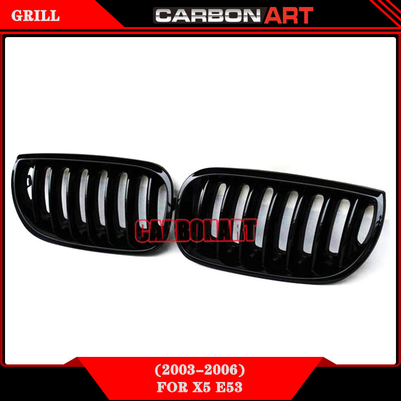 ФОТО Car Styling Replacement Front Racing Grill Single Slat Glossy Black Kidney Grille For BMW X3 E83 custom truck grilles 2003 2004
