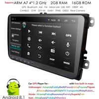 Android HD car multimedia GPS navigation for VW Volkswagen Polo Passat CC Golf V VI MK4 Tiguan Jetta Amarok Support BT SWC 2+16