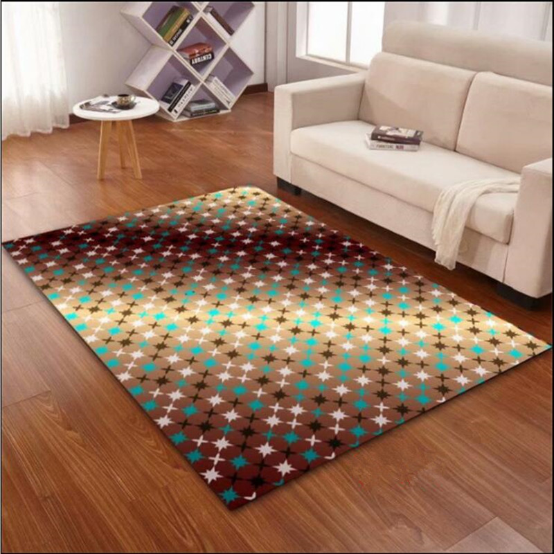 Custom Rectangular 3D Printed Thermal Transfer Carpet Study Room Antiskid Mat Bedroom Coffee Table Living Room Rugs And Carpet