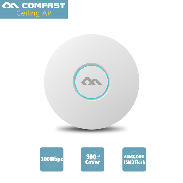 COMFAST CF-E320V2 300M WiFi Ceiling Wireless AP 802.11b/g/n QCA9531 Enterprise Wifi System AP 48V POE OPEN DDWRT Access Point AP
